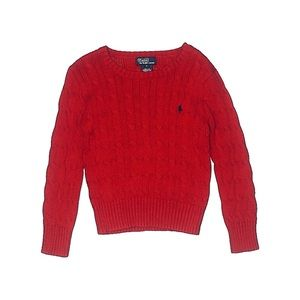 Polo by Ralph Lauren Red Unisex Sweater Size 5